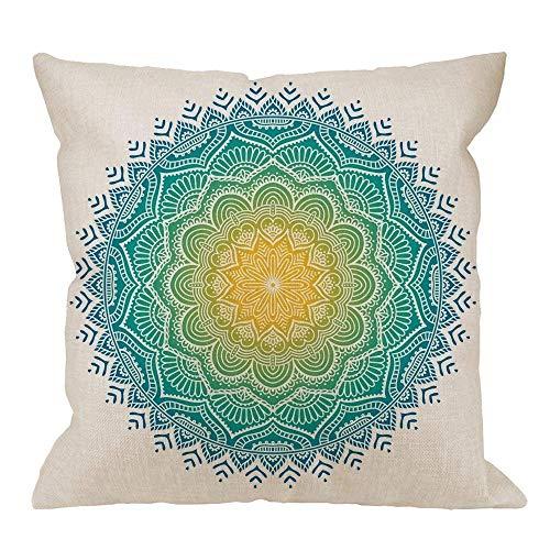 gatetop Elephant Mandala Pillow Case, Gradient Crystal