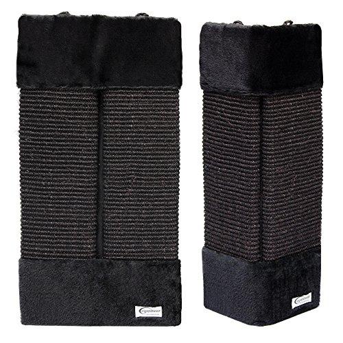 eyepower Rascador con felpa para esquinas interiores y exteriores S: 50x22 cm Negro