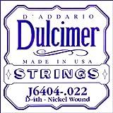 D'Addario J6404 Corde seule en nickel pour dulcimer