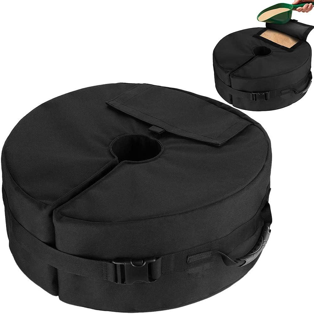 Ivellow Patio Umbrella Base OFFicial shop Weight Portable Washington Mall Heavy Round Duty Bag