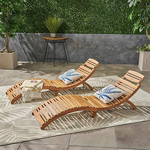 Lisbon Outdoor Folding Chaise Lounge Chair (Set of 2)-Chaise Lounge Outdoor-Chaise Lounge...