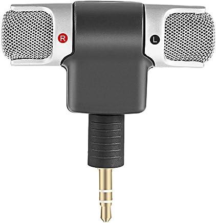 FOLWME Mini Microfono Stereo Digitale Mini Microfono da 3,5 mm Mini Jack per PC Notebook Portatile Registrazione Stereo Canale Destro e Sinistro - Nero - Trova i prezzi più bassi