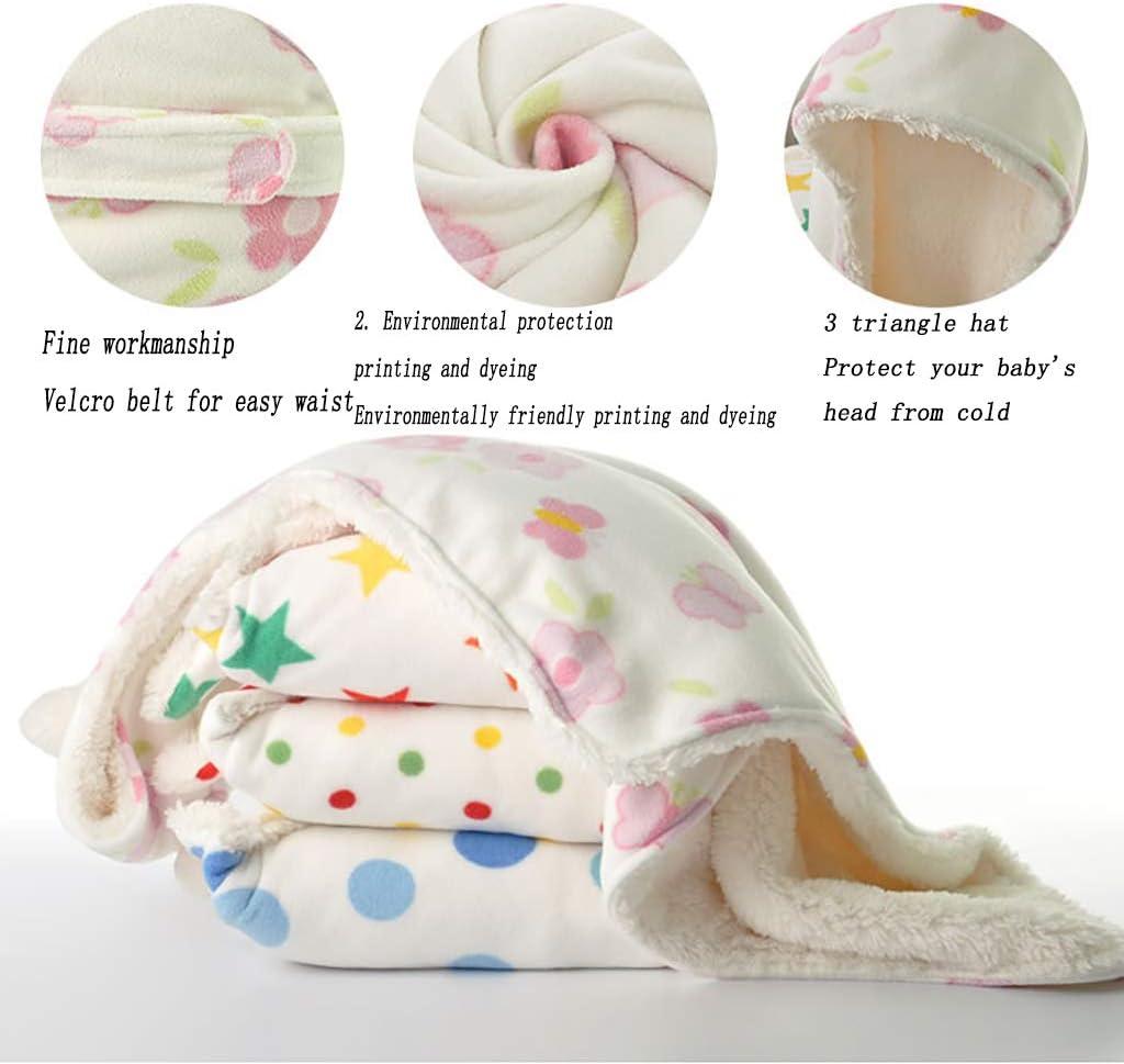 ZLMI Nouveau-Né Sac De Couchage Automne Et Hiver Épaississement Agneau Baby Hug Enveloppé Tissu Bébé Enfants 0-3 Ans E