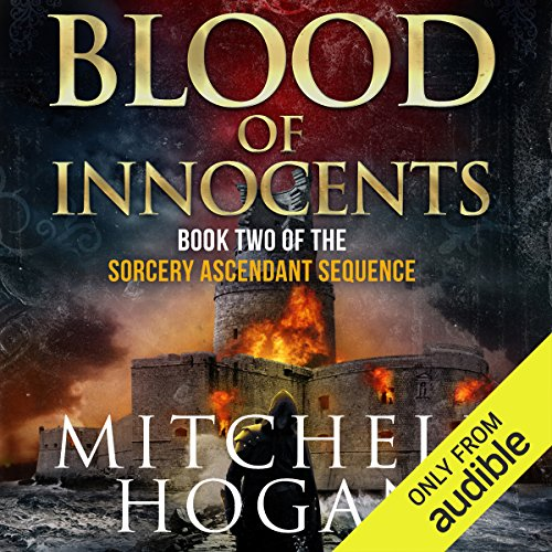 Blood of Innocents     The Sorcery Ascendant Sequence, Book 2              By:                                                                                                                                 Mitchell Hogan                               Narrated by:                                                                                                                                 Oliver Wyman                      Length: 20 hrs and 51 mins     5,211 ratings     Overall 4.4