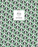 Panda Notebook - Ruled Pages - 8x10 - Premium Cuaderno (Green)