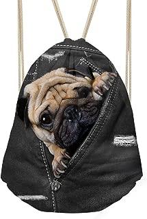 Coloranimal Fashion Animal Drawstring Backpacks Gym Sports Running Package Bag Travel Bags