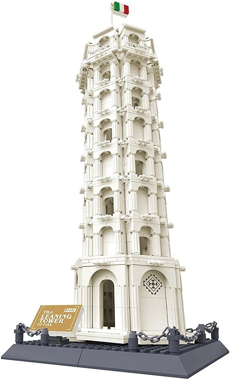 D DOLITY Giocattolo Blocco Per Costruzione Monumento Famoso In Plastica - torre pendente di Pisa, 1392 pezzi