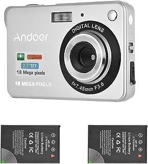 Andoer Digitalkamera Camcorder 18M 720P HD mit 2 Stück Akkus 8X Digital Zoom Anti Shake 2,7 Zoll LCD Bildschirm Kinder
