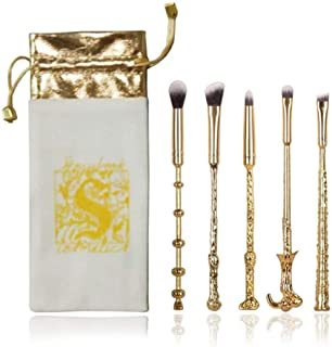 Makeup Brushes Kit 5Pcs with Carry Bag Harry Potter Magic Wizard Wand Make Up Brush Set Tool for Foundation Powder Conceal...