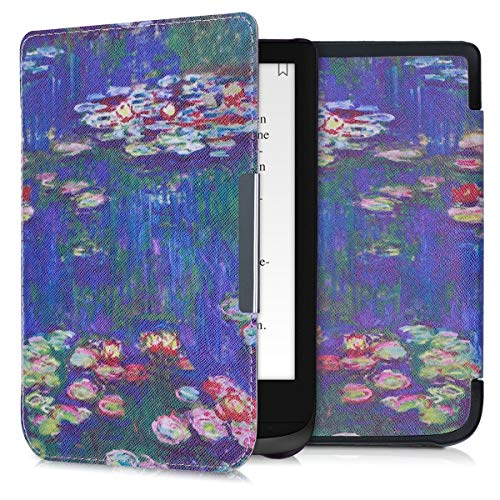 kwmobile Funda Compatible con Pocketbook Touch Lux 4/Basic Lux 2/Touch HD 3 - para eReader - nenúfares