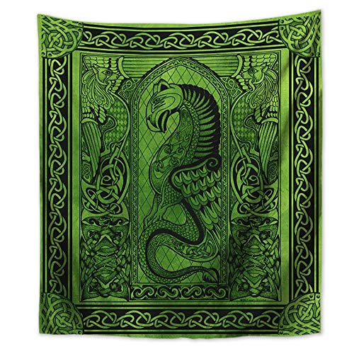 WholesaleSarong Celtic Pagan Hippie Dragon Wall Tapestry 59 x 51 inch Bedroom Art Print Art Print Solutions