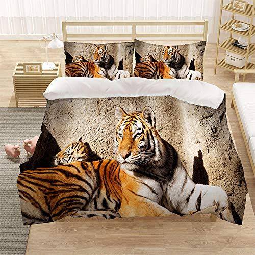 Bedclothes-Blanket Cubierta de la Colcha de Cama Cubierta de la Colcha de impresión 3D (con la Abertura y Cierre de la Cremallera), 3 Piezas (1 Cubierta de colchas + 2 pillowcasas)-8_220 * 260cm