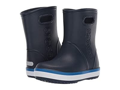 Crocs Kids Crocband Rain Boot (Toddler/Little Kid) (Navy/Bright Cobalt) Kid