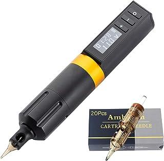 Draadloze roterende tattoo-pen Pistoolkit Cartridge Machine Liner en shader Ingebouwde 1800 mAh lithiumbatterij, geluidsar...