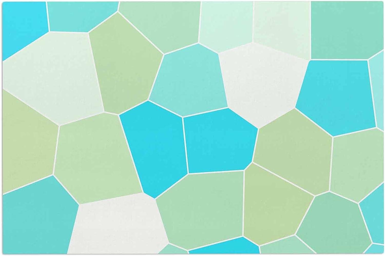 KESS InHouse EBI Emporium The Reef bluee Teal Decorative Door, 2' x 3' Floor Mat