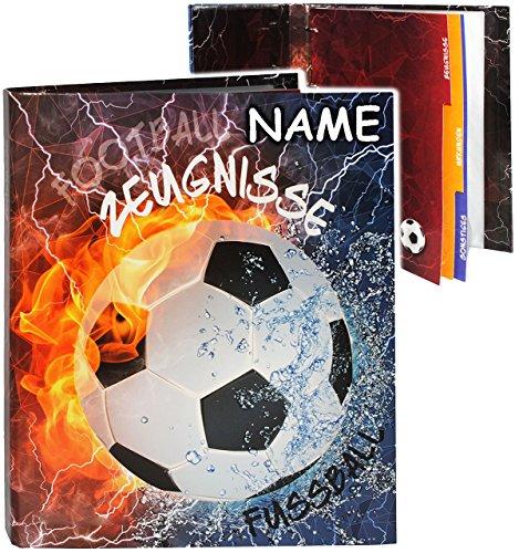 alles-meine.de GmbH A4 - Ringbuch / Zeugnisringbuch -  Zeugnisse  _  Fußball  - incl. Namen - mit Einsteckseiten & Einlagen -  z.B. Urkunden  - ERWEITERBAR / Ordner - Samme..