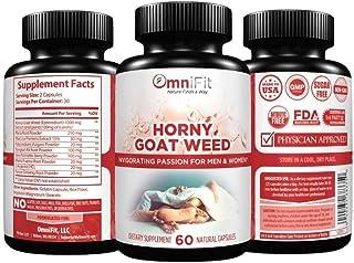 100% All Natural Horny Goat Weed | Intense Passionate Energy for Men & Women, 1560 mg of Epimedium + Maca Root, Tongkat Al...