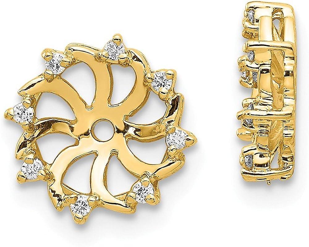 14K A Diamond Earring Jacket