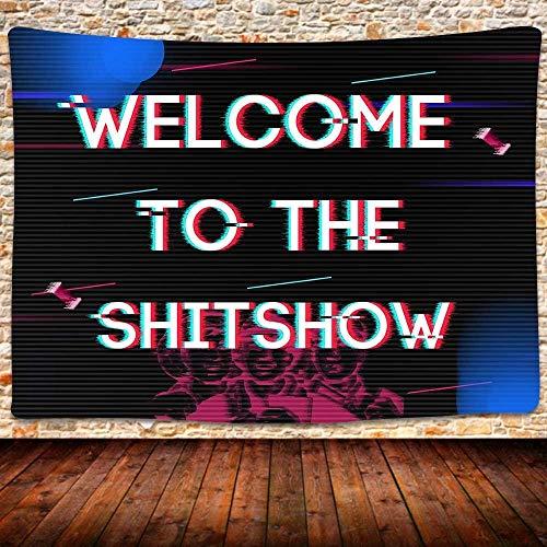 KBIASD Bienvenido a The TapestryHippy Tapstry Divertido Tapiz Colgante de Pared Vintage Boutique Tapiz para Sala de Estar Dormitorio Decoración de Dormitorio 80x60 Pulgadas