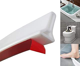 86 inch Collapsible Shower Threshold-Water Dam-Water Flood Barrier-Water Stopper for Shower-Shower Floor Water retaining S...