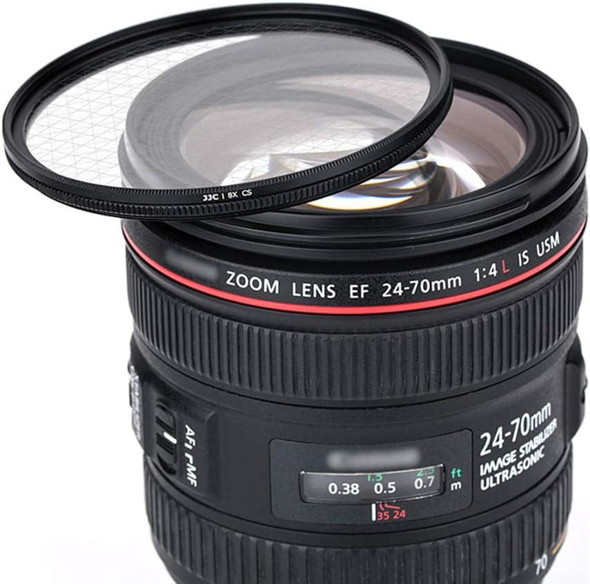 8 puntos con funda protectora para c/ámaras r/éflex canon Nikon Pentax Olympus Sony Panasonic Fujifilm DSLR JJC Filtro de estrella de 68mm filtros de lente de cristal /óptico con marco de aleaci/ón