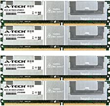 A-Tech 16GB ECC Fully Buffered Memory Kit (4 x 4GB) for DELL Precision 490 690 690n R5400 T5400 T7400 Workstation Towers & Rack Mount Servers - ECC FBDIMM DDR2 PC2-5300 667MHz 240-Pin DIMM 1.8V RAM