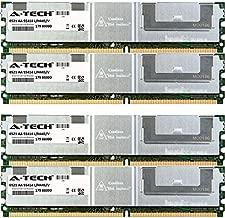 8GB KIT 4X 2GB Dell Precision Workstation Series 490 690 1KW 750W 690n R5400 Rack T5400 T7400 DIMM DDR2 ECC Fully Buffered PC2-5300 667MHz RAM Memory Genuine A-Tech Brand