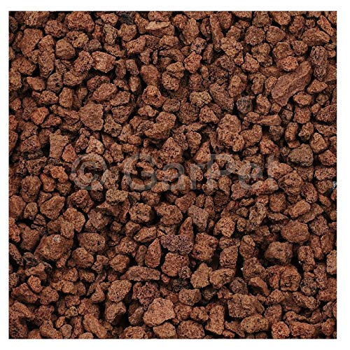 Lavastein Lava Kies Granu Grill Filtermaterial Garten Aquarium Mulch Vulkanstein Rot 20 L 8-16 mm