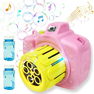 MAMG Bubble Machine-Bubble Blower Camera for Kids Toddlers with Music Flash Light , Bubble Maker Toy Automatic Portable Gi...