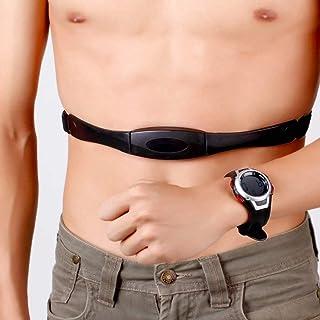 3 metros Impermeable Monitor de ritmo cardíaco Correa para el pecho inalámbrica Reloj deportivo Reloj de buceo con reloj despertador con luz de fondo / Negro