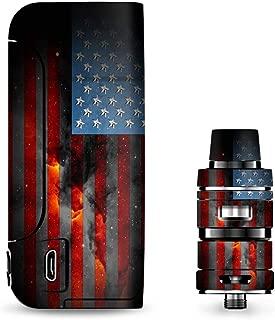 IT'S A SKIN Decal Vinyl Wrap for Vaporesso Armour Pro Cascade Tank Vape Sticker Sleeve/Dark Distressed American Flag Sky Stars Galaxy