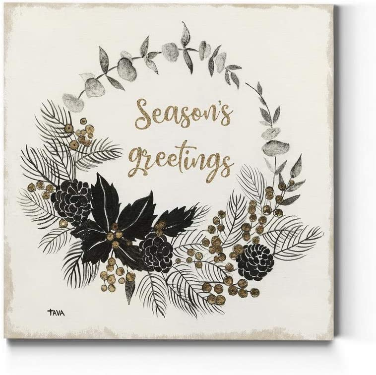 Rapid rise Renditions Gallery Gifts Season's Greetings Wall Art Charming Wreath