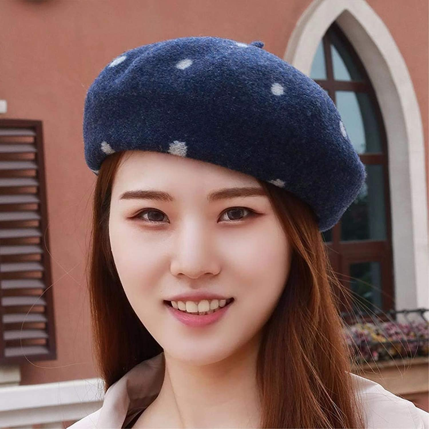 Chuangshengnet Autumn winter beret girl autumn WINTER HAT wool cap, painter, pumpkin cap tide