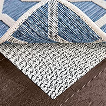 Ninja Extra Thick Rug Pad Gripper for Hardwood Floors Slip Resistant Grip Pads for Hard Surfaces Adds Cushion and Maximum Protection Keeps Area Rugs and Carpets Safe and in Place on Floor 2x8 FT