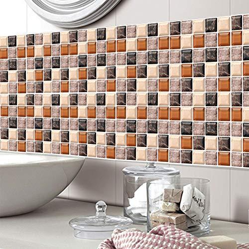 RONSHIN Home 6 STKS 3D Mozaïek Waterdichte Badkamer Keuken Decoratie PVC Tegels Sticker