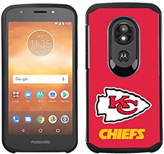Prime Brands Group Cell Phone Case for Motorola Moto E5 Cruise/E5 Play - NFL Licensed Kansas City Chiefs - Red Textured Back Cover on Black TPU Skin