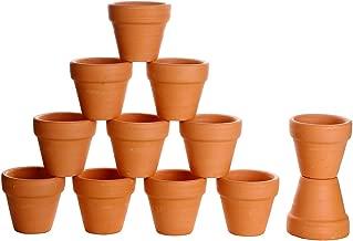 Winlyn 12 Pcs Small Mini Clay Pots 2'' Terracotta Pot Clay Ceramic Pottery Planter Cactus Flower Pots Succulent Nursery Pots- Great for Plants,Crafts,Wedding Favor