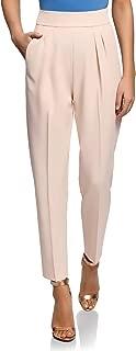 oodji Ultra Women's Pleated Peg Trousers