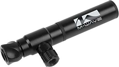 M-Wave Unisex híbrida Mini Bomba, Negro/Plata