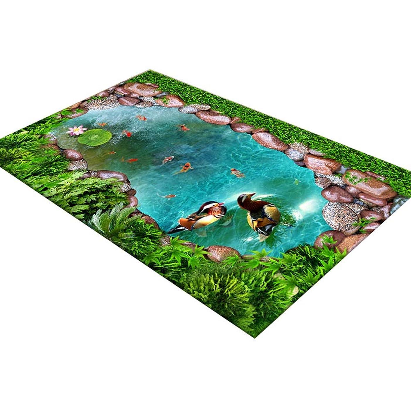 スーパー箱あざYUEWANG 玄関マットドアマットラグカーペットマットじゅうたん入り口敷物滑り止め3D 丈夫な フットパッド 寝室 浴室 キッチン 掃除が簡単、 6スタイル (Color : B, Size : 40x60cm)