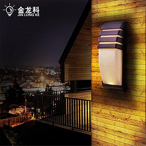 YU-K Chambre Simple Vintage wall lamp creative living salle à manger chambre lumières lumières allée Brown mur escalier coin de lampe lampe murale lampe murale étanche corps hôtel club piscine extérieur LED lampe murale (8 * 22cm)