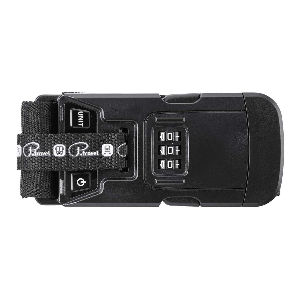 HOCOSY 3 合 1 行李箱比例,可调节弹性行李带,手提箱包装带 3 位数密码锁,数字比例功能,手提箱包装带,旅行配件