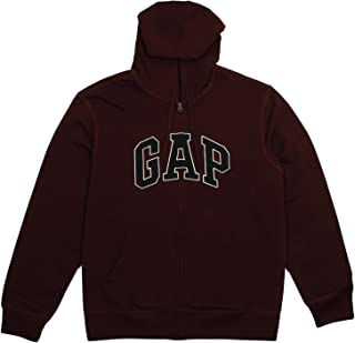 Mens Fleece Arch Logo Zip Up Hoodie