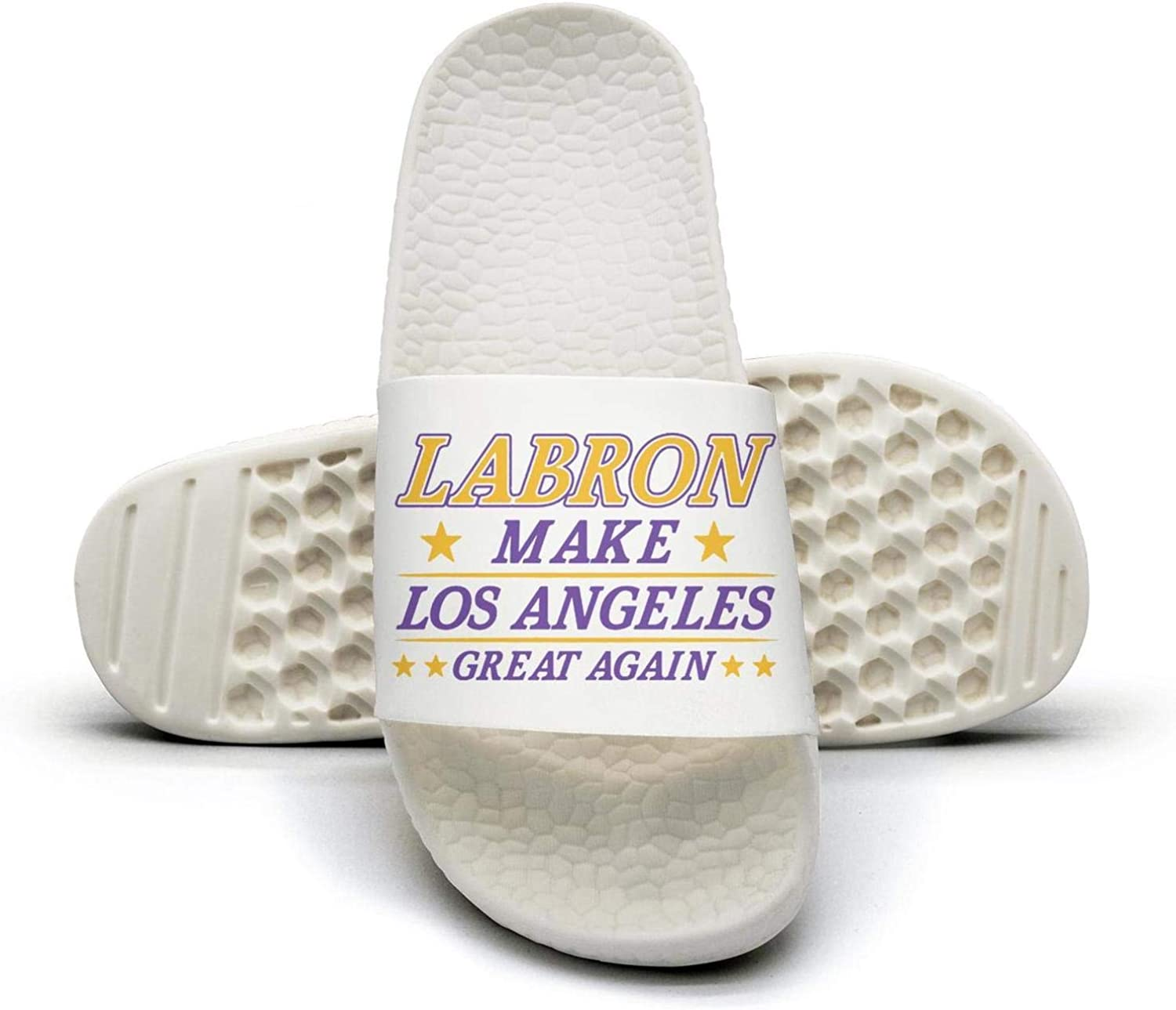 ADIDII Womens Printed Non-Slip Slippers Slide flip Flop Sandals labron_Make_L.A_Great Again Summer Stylish