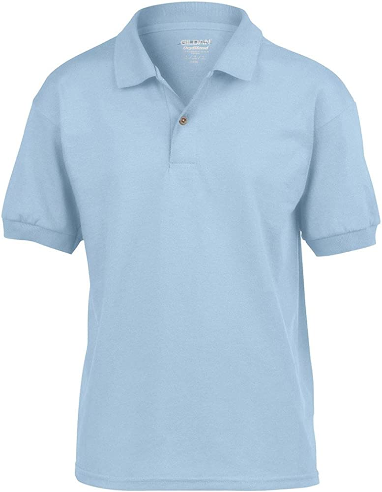 Gildan DryBlend Youth Comfort DryBlend Wicking Polo Shirt, Light Blue