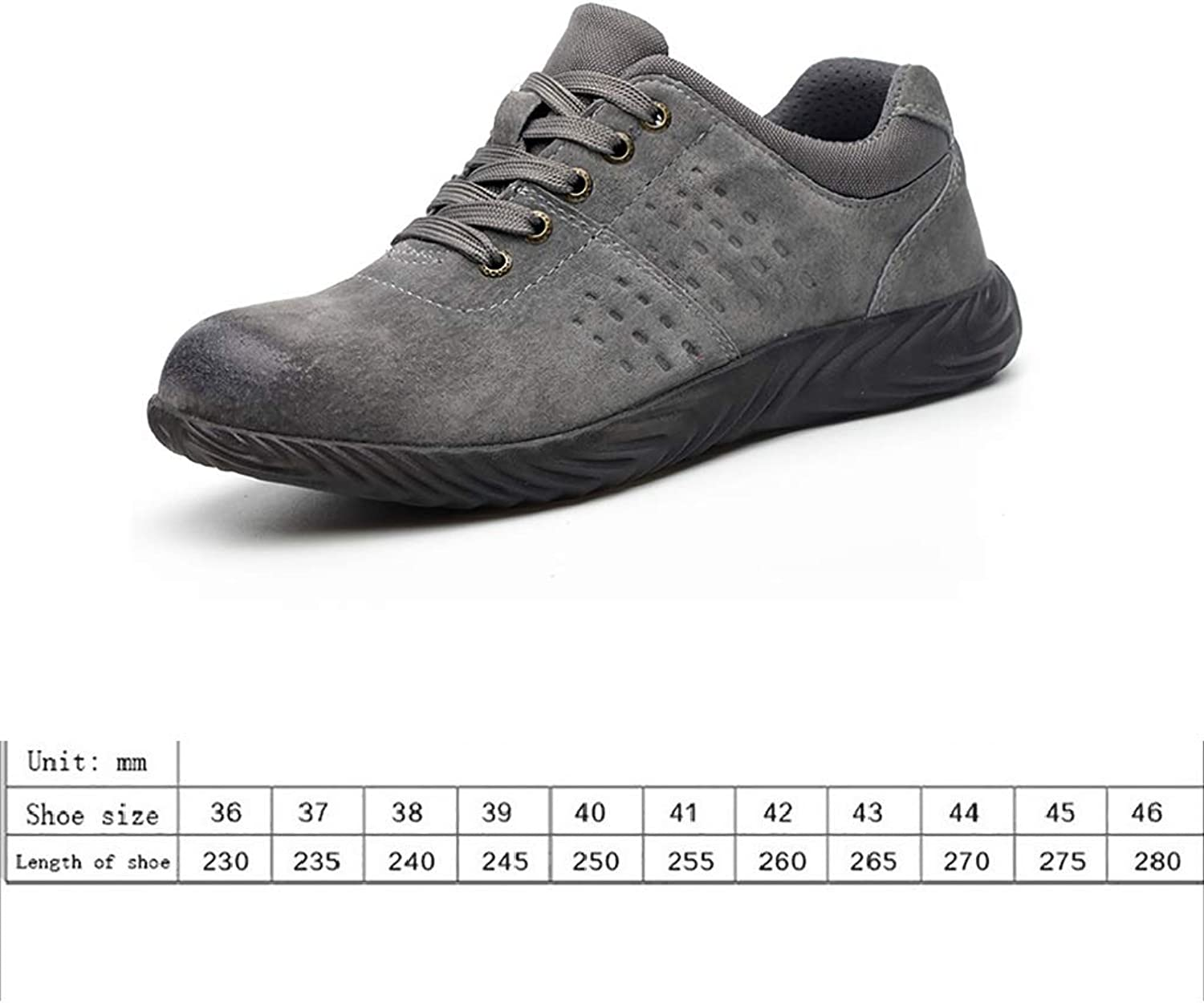 Work shoes Work shoes work shoes light and comfortable men's casual shoes outdoor non-slip shoes anti-mite   puncture   tendon jelly soles predective shoes pigskin shoes waterproof breathable low to h