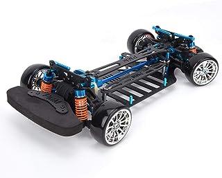 Coche de Control Remoto, Parachoques de chasis de Fibra de Carbono con Marco de Distancia Entre Ejes para TT01/TT01E 1/10 RC Modelo de Coche