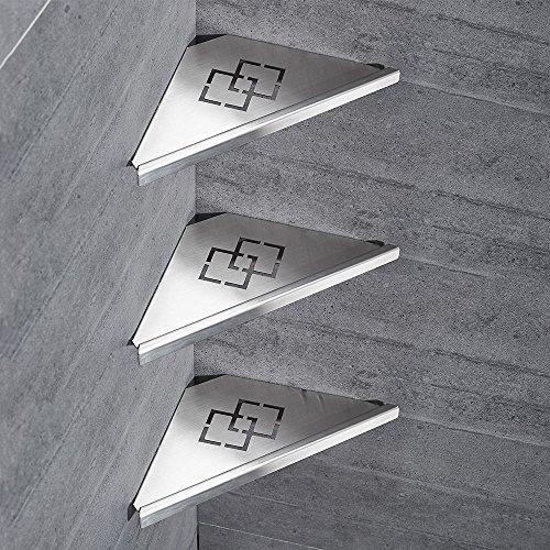Badezimmer Regale 304 Edelstahl Rack Ecke Dusche Pinsel Nickel 3-Storey Dusche Dreieck Lagerung Wand Montiert Für Shampoo dusche Gel WF-18062-3