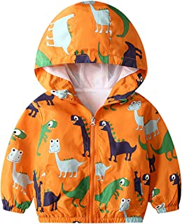 KISBINI Boy`s Cartoon Lightweight Wind Zip Jackets Windbreakers Cute Dust Coats 2T-7T