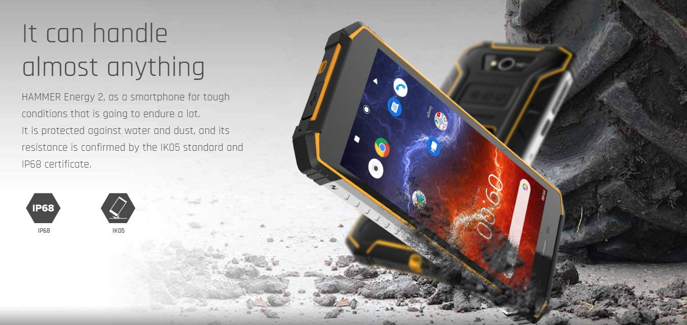 SPC Myphone Hammer Energy 2 Negro Móvil Rugerizado 4g Dual Sim 5.5 ...
